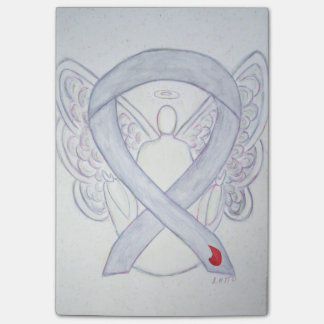 Gray Diabetes Awareness Angel Sticky Notes Post-it® Notes