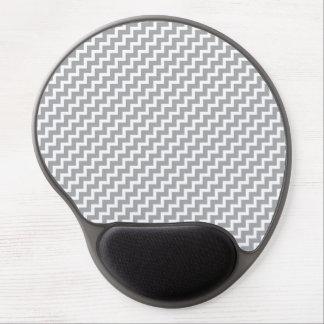 Gray Diagonal Chevron Stripes Gel Mousepad