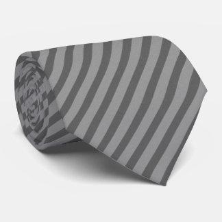 Gray Diagonal Striped Tie