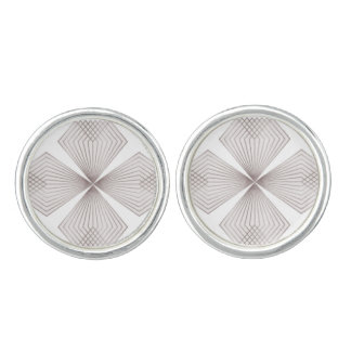 Gray Diamond Flower Cufflinks