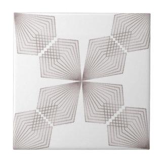 Gray Diamond Flower Tile