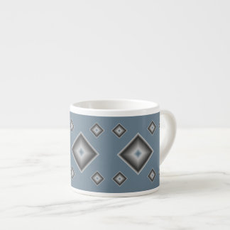 Gray Diamonds Espresso Mug by Janz