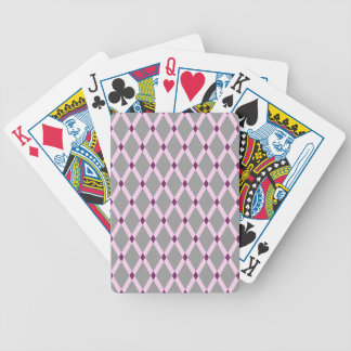 Gray Diamonds-Pink Frames Playing Cards