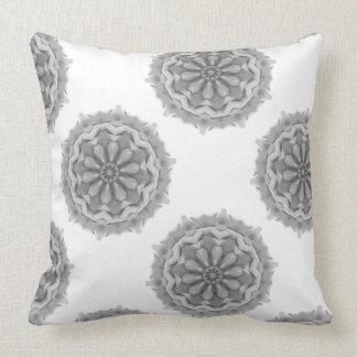 Gray Digital Art Abstract Design Throw Pillow