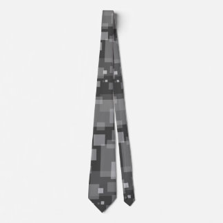 Gray Digital Snow Tie