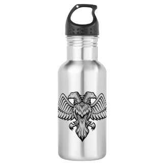Gray eagle with two heads 532 ml water bottle