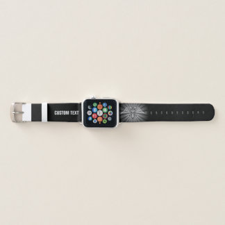 Gray eagle with two heads apple watch band