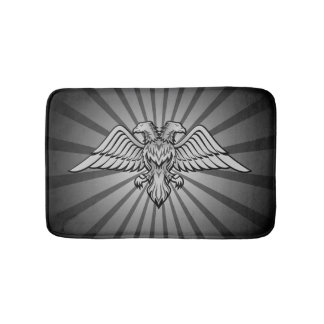 Gray eagle with two heads bath mat