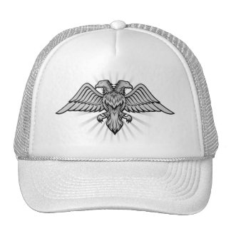 Gray eagle with two heads cap