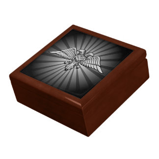 Gray eagle with two heads large square gift box