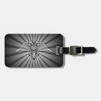 Gray eagle with two heads luggage tag