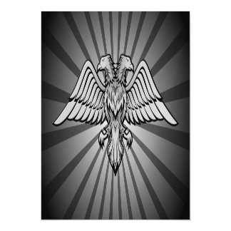 Gray eagle with two heads magnetic invitations