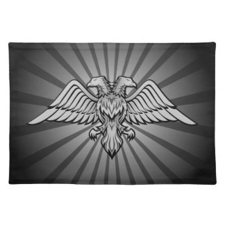 Gray eagle with two heads placemat