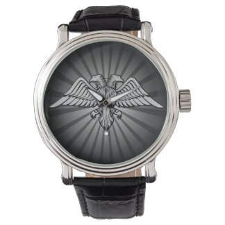 Gray eagle with two heads wristwatches