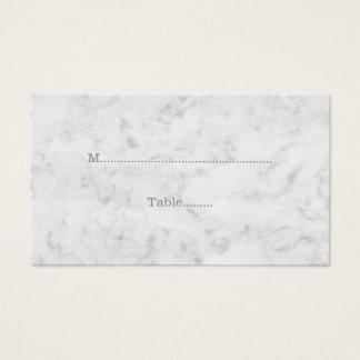Gray Elegant Marble Wedding Place Cards