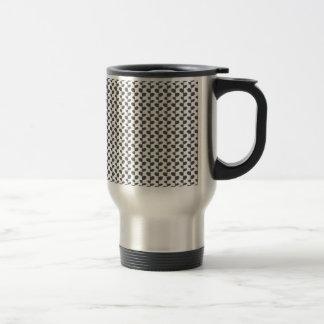 Gray Elegant Modern Chic Leaf Pattern Mugs