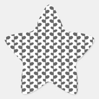 Gray Elegant Modern Chic Leaf Pattern Star Sticker