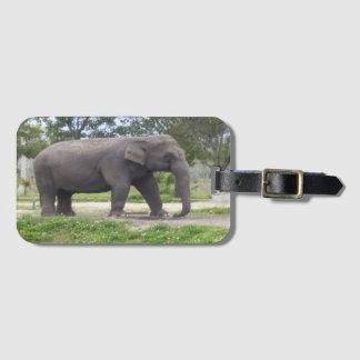Gray Elephant Bag Tag