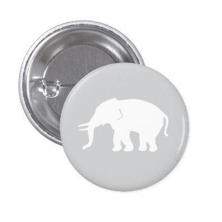 Gray Elephant Button