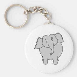 Gray Elephant. Key Chain