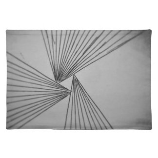 Gray Explicit Focused Love Placemat