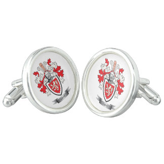 Gray Family Crest Coat of Arms Cuff Links