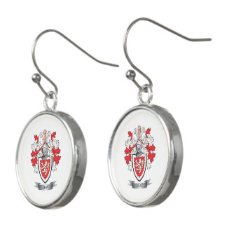 Gray Family Crest Coat of Arms Earrings