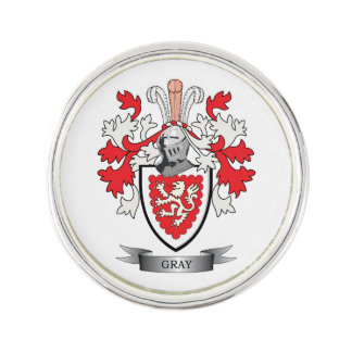 Gray Family Crest Coat of Arms Lapel Pin