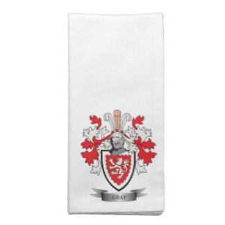 Gray Family Crest Coat of Arms Napkin