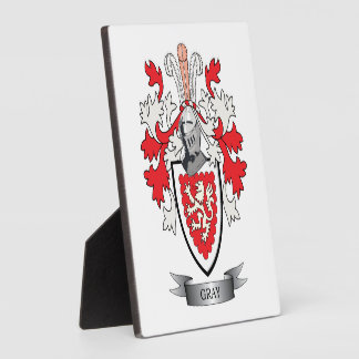 Gray Family Crest Coat of Arms Plaque
