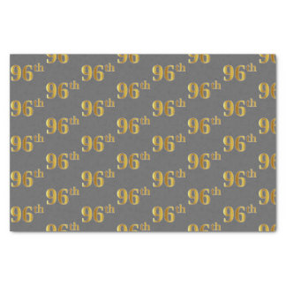 Gray, Faux Gold 96th (Ninety-Sixth) Event Tissue Paper