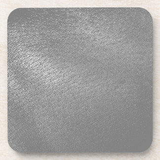 Gray (Faux) Leather Look Coaster