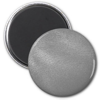 Gray Faux Leather Look Fridge Magnet