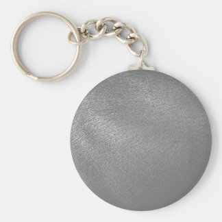Gray (Faux) Leather Look Keychain