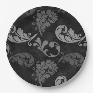 Gray, Feathers, Grey, Feather, Graceful, Avian Paper Plate