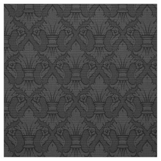 Gray Fleur-de-lis Pattern Fabric