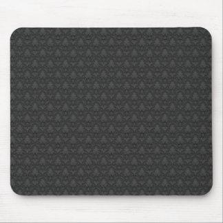 Gray Fleur-de-lis Pattern Mouse Pad