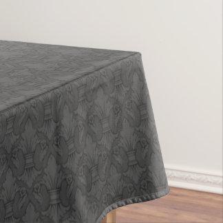 Gray Fleur-de-lis Pattern Tablecloth