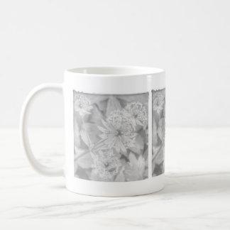 Gray floral mug