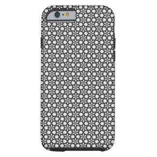 Gray floral Pattern Tough iPhone 6 Case