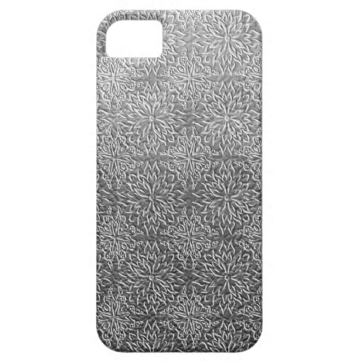Gray flower pattern iPhone 5 cases