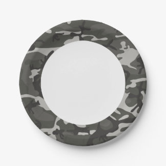 Gray Forest Camouflage. Camo your Paper Plate
