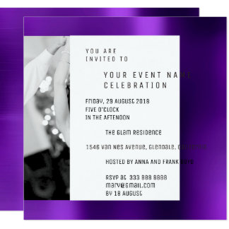 Gray Foto Pearly Geometry Purple Plum Metallic VIP Card