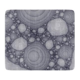 Gray fractal cutting board