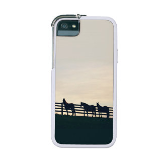 Gray Galloping Horses Pattern iPhone 5 Cases