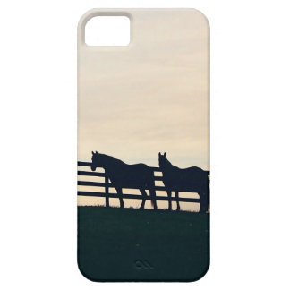 Gray Galloping Horses Pattern iPhone 5 Covers