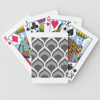 gray geometric drops bicycle playing cards