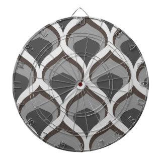 gray geometric drops dartboard