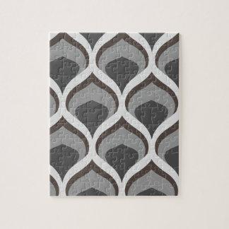 gray geometric drops jigsaw puzzle