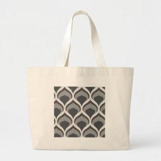 gray geometric drops large tote bag